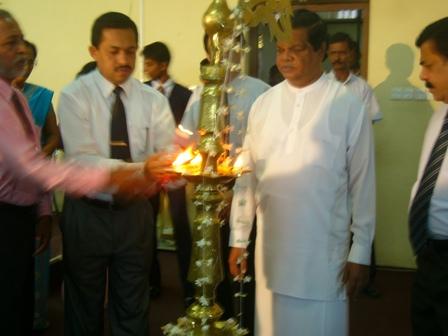 lighting the oil lamp